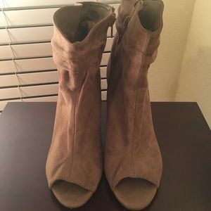 Shoes - Ankle peep toe boot size 8